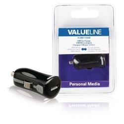 Valueline Billaddare med USB-kontakt svart 2.1A (VLMB11950B)
