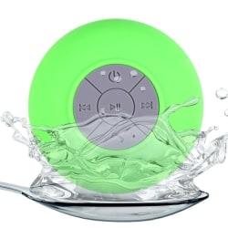 Vattentät Bluetooth-högtalare med sugpropp (Grön)
