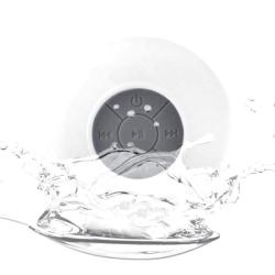 Vattentät Bluetooth-högtalare med sugpropp (Vit)