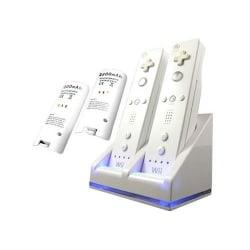 Wii Docka + 2x batteri till Nintendo Wii/Wii U-kontroll