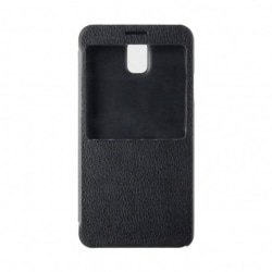 Xqisit, Flip Cover med fönster för Samsung Note 3 (Svart)