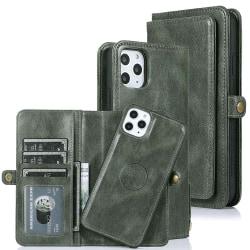 Praktiskt Plånboksfodral - iPhone 11 Pro Mörkgrön