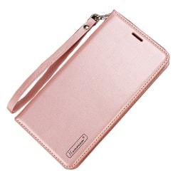 Skyddande Robust Plånboksfodral - Samsung Galaxy A40 Roséguld
