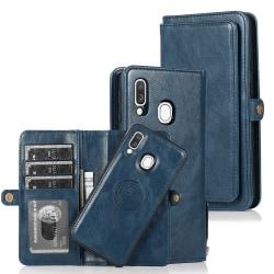 Genomtänkt Plånboksfodral - Samsung Galaxy A40 Mörkblå