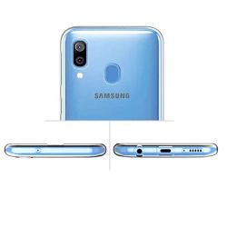 Stötdämpande Silikonskal - Samsung Galaxy A40 Transparent/Genomskinlig