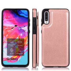 Samsung Galaxy A50 - Elegant Skal med Korthållare Roséguld