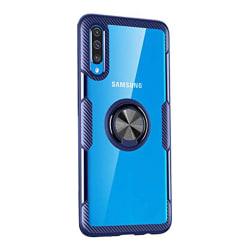 Kraftfullt Skal med Ringhållare - Samsung Galaxy A50 Svart/Silver