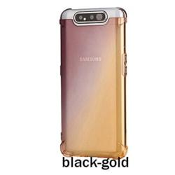 Samsung Galaxy A80 - Silikonskal Svart/Guld