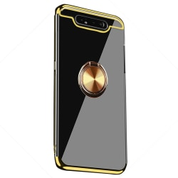 Genomtänkt Skal med Ringhållare - Samsung Galaxy A80 Röd