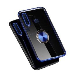Exklusivt Silikonskal med Ringhållare - Samsung Galaxy A9 2018 Blå