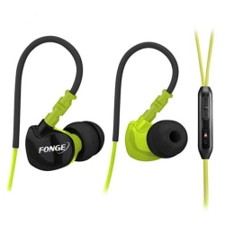 Sport In-ear Hörlurar med Mic (Earphone) Grön