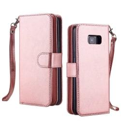 Samsung Galaxy S7 - Elegant 9-korts Plånboksfodral Sedelfack Roséguld