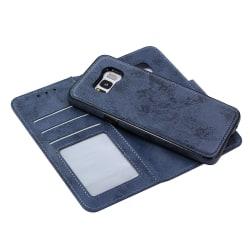 Genomtänkt Plånboksfodral från LEMAN för Samsung Galaxy S8 Marinblå