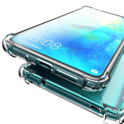 Praktiskt Silikonskal Till Huawei Mate 20 Pro Transparent/Genomskinlig
