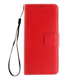 Huawei P10 Plus - Smart Plånboksfodral Hög kvalité Ställfunktion Röd