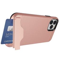 iPhone 11 - Skal med Kortfack Roséguld