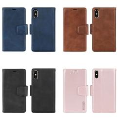 Stilrent Hanman Dubbelfunktion Plånboksfodral - iPhone XR Brun
