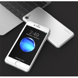 Stilrent Skyddsfodral för iPhone 5/5S/5SE  (Fram och bak) Silver/Grå