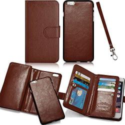 iPhone 6/6S - Leman Exklusivt Stilrent Plånboksfodral Brun