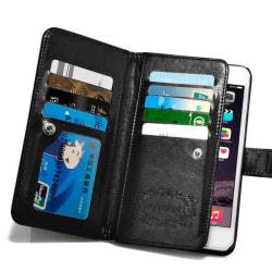 iPhone 6/6S Plus - Stilrent Plånboksfodral i Läder från LEMAN Svart