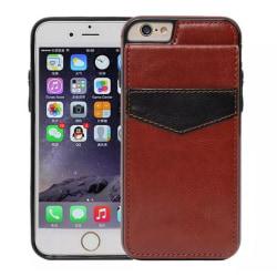 iPhone 6/6Splus Stilrent Läderskal med plånbok/Kortfack BRUN