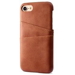 iPhone 7 - Exklusivt Smart Skal med korthållare Vintage-serie Brun