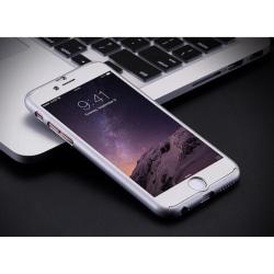 Praktiskt Skyddsfodral för iPhone 7 PLUS (Fram och bak) SILVER Silver/Grå