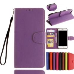 iPhone 7 Plus - Exklusivt Stilrent Praktiskt Plånboksfodral Lila