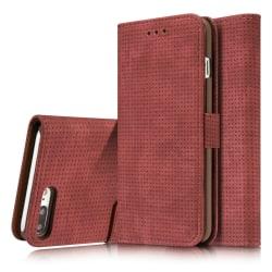 Genomtänkt Elegant Fodral i Retro-Design till iPhone 7 Plus Röd