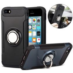 iPhone 8 PLUS - Shockproof Skal Ringhållare FLOVEME (MAX SKYDD) Grå