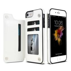 iPhone 8 - Praktiskt Skal med Plånbok från NKOBEE Roséguld