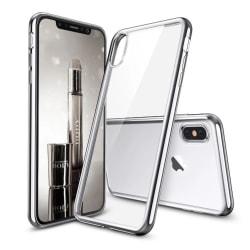 iPhone X - Electro Plated Skal Stilrent Silikonskal Silver