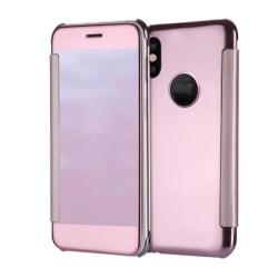 iPhone X/XS - Elegant fodral i Clear View UTFÖRSÄLJNING! Roséguld