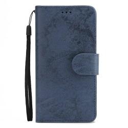 Genomtänkt Plånboksfodral från LEMAN för iPhone XR Marinblå
