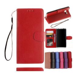 Elegant Plånboksfodral för Samsung Galaxy J7 (2017) Röd