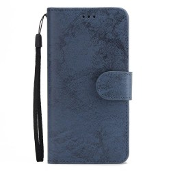 LEMAN Stilrent Plånboksfodral - Samsung Galaxy S7 Marinblå