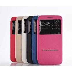 LG G5 Smartfodral med Fönster och Svarsfunktion Rosa