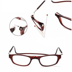 Magnet-Läsglasögon (NYHET) Väldigt praktiska! Svart 3.0