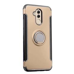 Huawei Mate 20 Lite Exklusivt Skyddsskal med ringhållare Svart