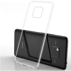 Stötdämpande Silikonskal (FLOVEME) - Huawei Mate 20 Pro Transparent/Genomskinlig