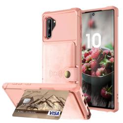 Genomtänkt Skal med Kortfack - Samsung Galaxy Note10 Roséguld