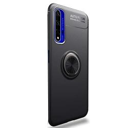 Huawei Nova 5T - Professionellt Skal med Ringhållare Svart