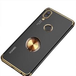 Huawei P Smart 2019 - Silikonskal med Ringhållare Roséguld