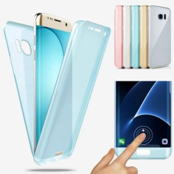 Dubbelt Silikonfodral med Touchfunktion - Huawei P Smart 2019 Blå