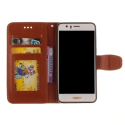 Huawei P10 - Stilrent Plånboksfodral från NKOBEE Brun