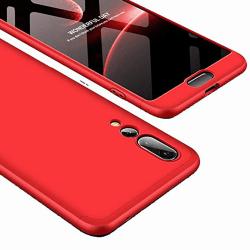 Stilsäkert Stöttåligt Dubbelskal - Huawei P20 Pro Röd