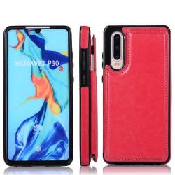 Elegant Smart Skal med Kortfack (NKOBEE) - Huawei P30 Rosa