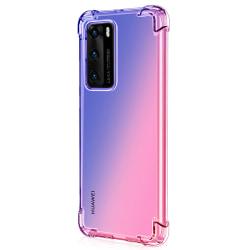 Elegant FLOVEME Silikonskal - Huawei P40 Svart/Guld