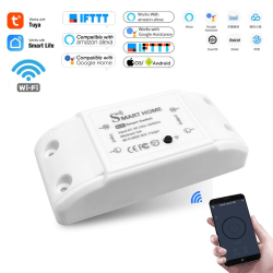 Praktiskt WiFi Smart Light Switch Trådlös Fjärrkontroll Vit