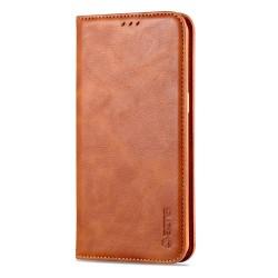 Professionellt YAZUNSHI Plånboksfodral - Samsung Galaxy A20S Ljusbrun